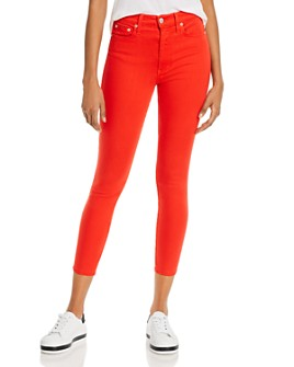 Alice and Olivia - Good High-Rise Ankle Skinny Jeans in Paprika