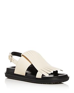 Marni Women\\\'s Fussbett Kiltie Fringe Slingback Sandals