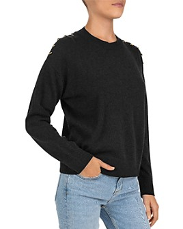 The Kooples - Pin-Detail Wool & Cashmere Sweater