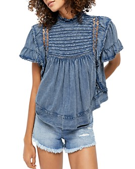 Free People - Le Femme Ruffled Crochet Top