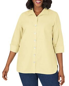 Foxcroft Plus - Pandora Non-Iron Cotton Tunic Shirt
