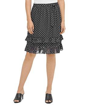 Calvin Klein - Dotted Ruffle-Trim Skirt