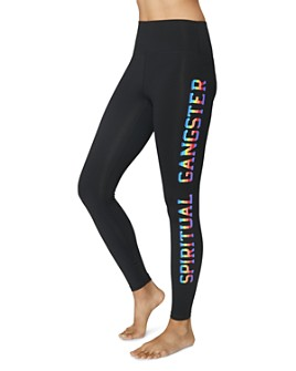 Spiritual Gangster - Essential Rainbow-Logo Leggings