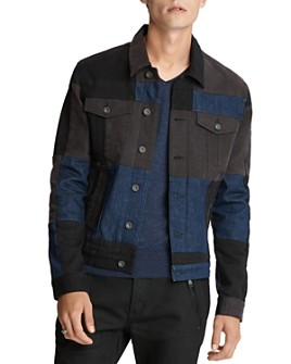John Varvatos Star USA - Patchwork Regular Fit Jean Jacket