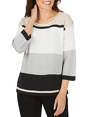 Foxcroft Linden Color-Block Sweater-Women