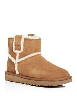 UGG® - Women's Classic Mini Spill Seam Shearling Booties