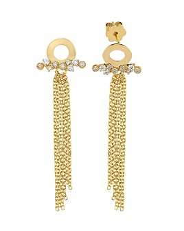 OWN YOUR STORY - 14K Yellow Gold Nature Diamond Waterfall Drop Earrings