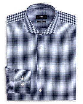 BOSS - Mark Cotton Grid-Print Regular Fit Dress Shirt
