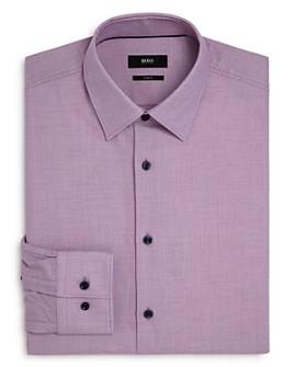 BOSS - Jano Cotton Textured Slim Fit Dress Shirt