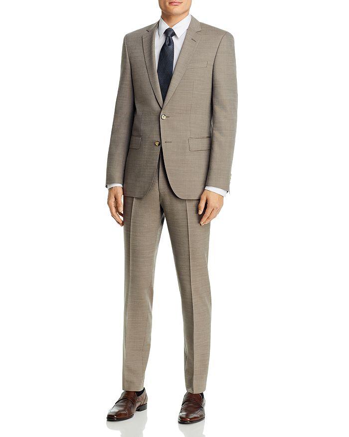 BOSS - Huge/Genius Tan Wool-Blend Slim Fit Suit