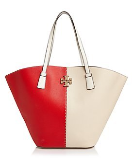 Tory Burch - McGraw Color-Block Leather Extra Large Shopper Tote