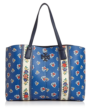Tory Burch McGraw Large Floral Leather Tote