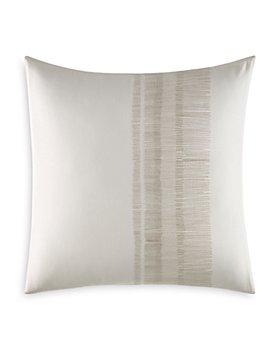 "Vera Wang - Pucker Grid Shaded Stitching Square Pillow, 18"" x 18"""