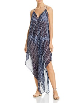 Echo - Shibori Handkerchief Dress Swim Cover-Up