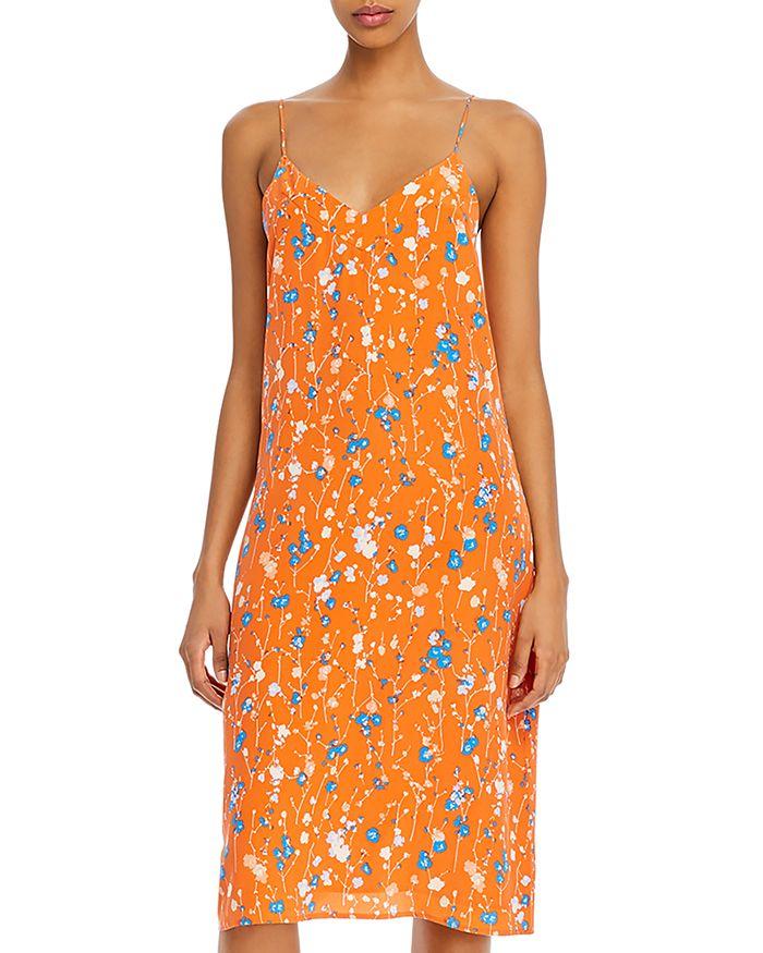 Equipment - Jules Floral-Print Silk Dress