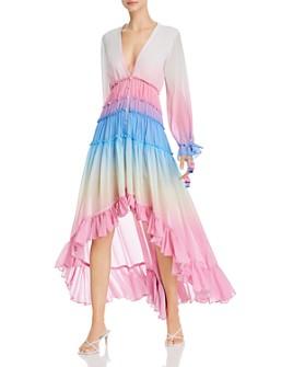 Rococo Sand - Ombré Ruffled Dress