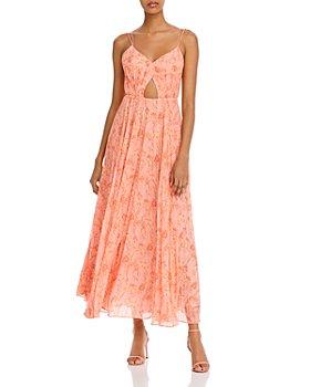 Amur - Lucy Printed Waist-Cutout Dress