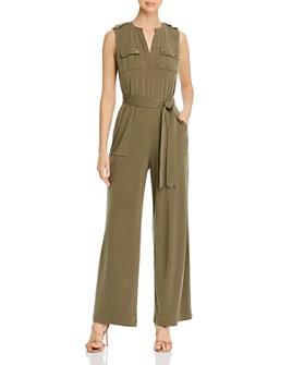Calvin Klein - V-Neck Belted Jumpsuit