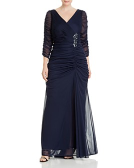 Adrianna Papell Plus - Ruched Gown