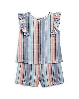 Splendid - Girls' Striped Ruffled Romper - Baby