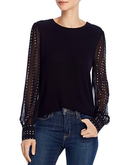 Generation Love - Talia Studded-Sleeve Top