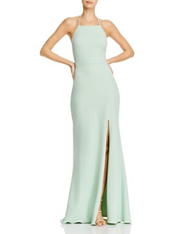 AQUA - Embellished-Strap Gown - 100% Exclusive