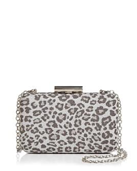 Sondra Roberts - Glitter Leopard-Print Box Clutch