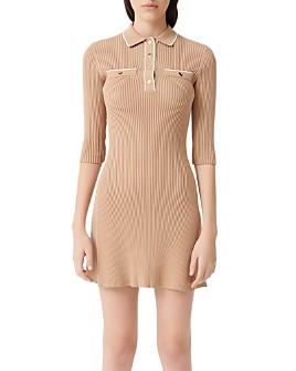 Maje - Relly Short Rib Knit Dress