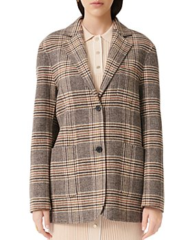 Maje - Garion Plaid Blazer Coat