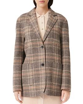 Maje - Garion Plaid Blazer Coat
