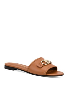 Salvatore Ferragamo - Women's Embellished Slip On Sandals