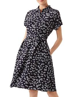 HOBBS LONDON - Aurelia Daisy Print Shirt Dress