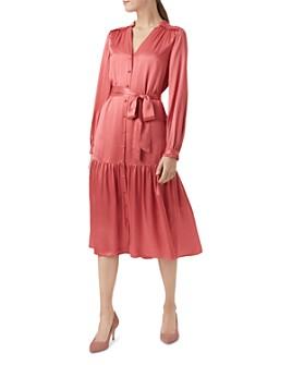 HOBBS LONDON - Esther Satin Shirt Dress