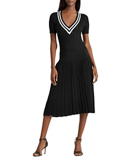 Ralph Lauren - Pleated Cable-Knit Dress