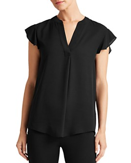 Ralph Lauren - Flutter-Sleeve Top