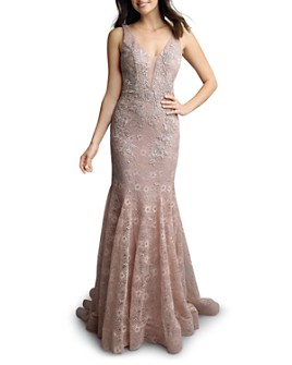 Basix - Ruffled Lace Gown