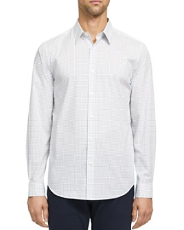 Theory - Irving Regular Fit Geo Print Button-Down Shirt