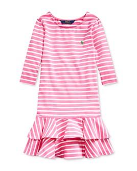 Ralph Lauren - Girls' Striped Stretch Cotton Jersey Dress - Big Kid