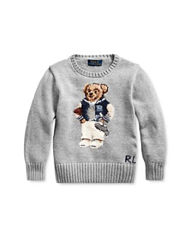 Ralph Lauren - Boys' Football Bear Sweater - Little Kid