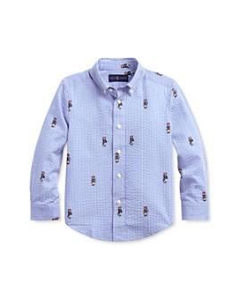 Ralph Lauren - Boys' Boating Bear Seersucker Shirt - Little Kid
