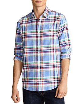 Polo Ralph Lauren - Cotton Gingham Plaid Classic Fit Oxford Shirt