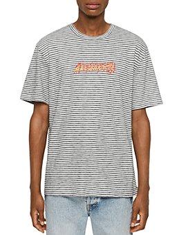 ALLSAINTS - Cotton Striped Logo T-Shirt