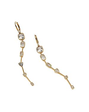 Nadri Cece Cubic Zirconia Linear Curve Drop Earrings-Jewelry & Accessories