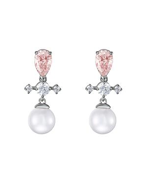 Swarovski Perfection Crystal & Crystal Pearl Drop Earrings