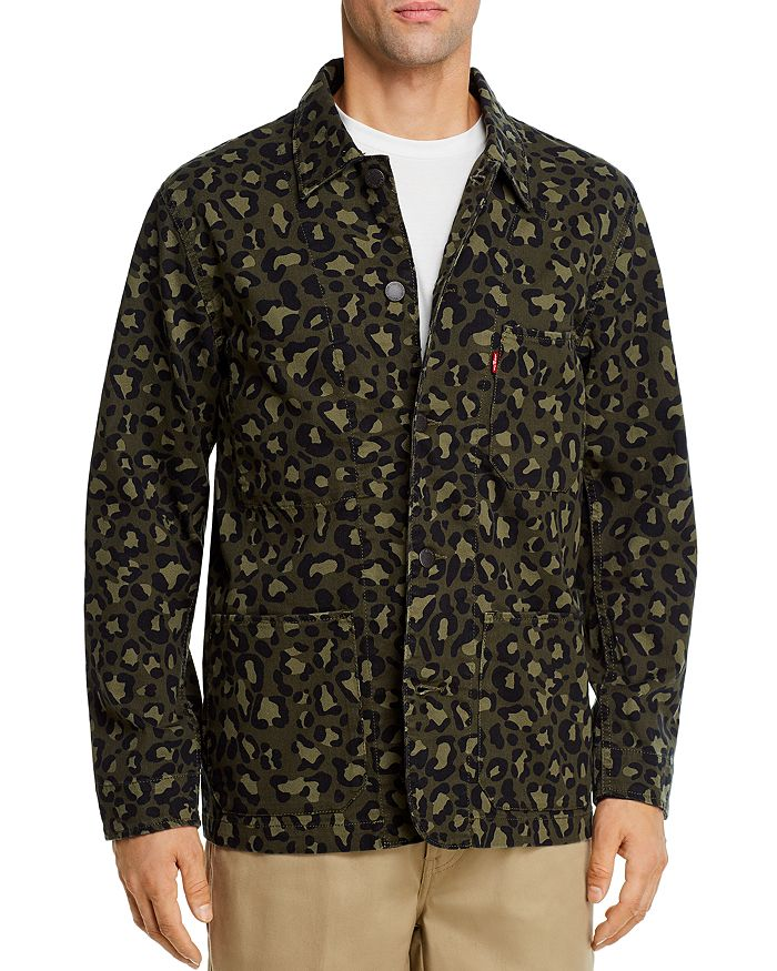 Levi's - Engineer Cheetah-Print Regular Fit Jean Jacket