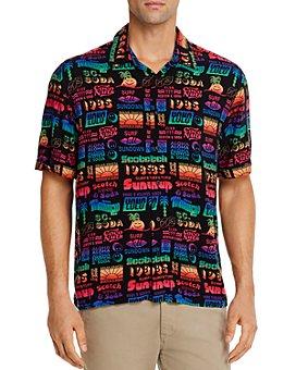 Scotch & Soda - Hawaiian Printed Regular Fit Button-Down Shirt