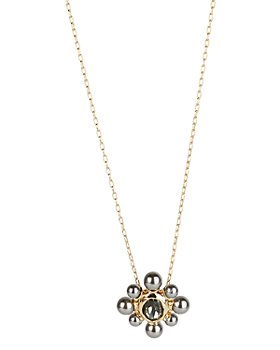 """Alexis Bittar - Crystal & Imitation Pearl Cluster Pendant Necklace, 16"""""""