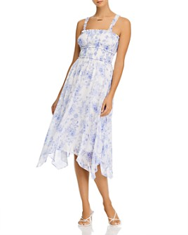 AQUA - Printed Sleeveless Midi Dress