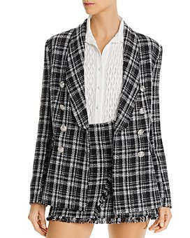 AQUA - Tweed Plaid Blazer - 100% Exclusive