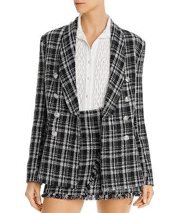 AQUA - Tweed Plaid Blazer - 100% Exclusive